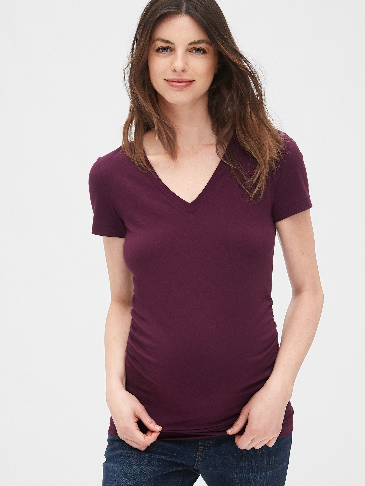 fb2dd9ce3f15a Maternity Pure Body V-Neck T-Shirt | Gap