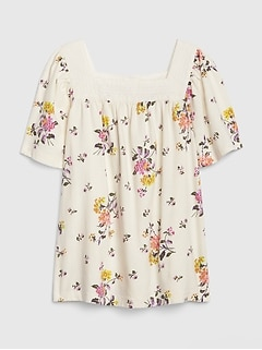 Kids Squareneck Flutter Top