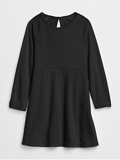 Toddler Long Sleeve Fit and Flare Dress