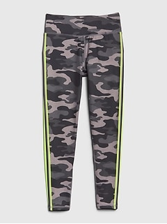 GapFit Kids Panel Camo Leggings