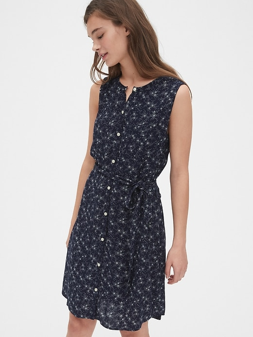 Sleeveless Print Shirtdress by Gap