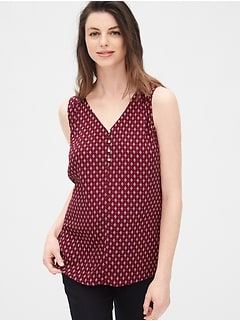 Maternity V-Neck Print Tank Top