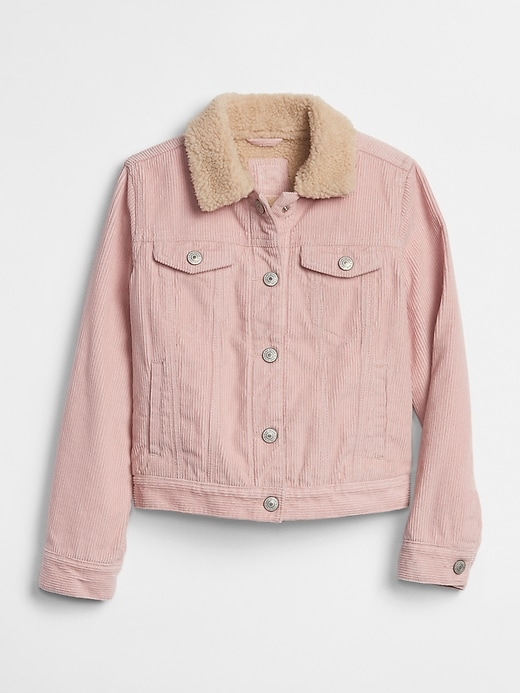 Kids Sherpa Lined Cord Jacket by Gap