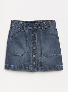 c3575a5300 Kids Denim Button-Front Skirt