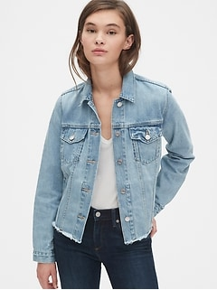 Distressed Icon Denim Jacket
