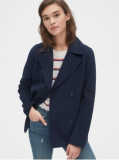 Unlined Wool-Blend Peacoat