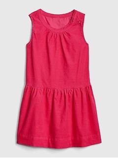 Toddler Cord Sleeveless Dress