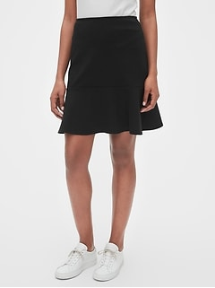 Flutter Mini Skirt in Ponte