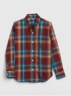 Kids Plaid Poplin Shirt