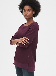 Maternity Side-Snap Nursing Sweatshirt