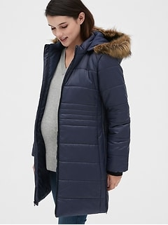 Maternity ColdControl Puffer Coat with Detachable Hood
