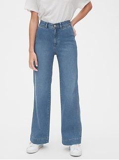 High Rise Wide-Leg Jeans