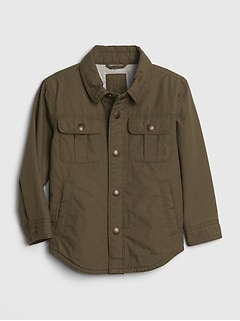 Toddler Lined Poplin Shirt Jacket