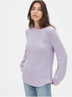 Shaker Stitch Crewneck Sweater