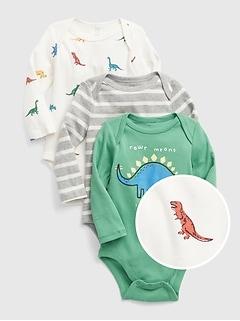Baby Dino Bodysuit (3-Pack)