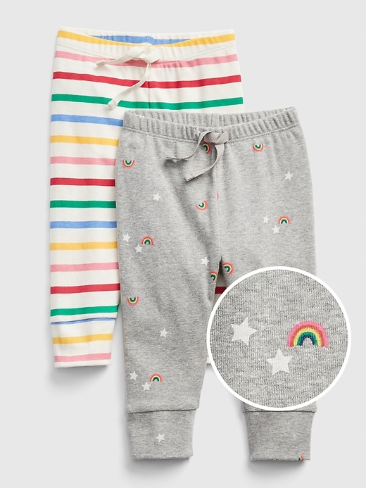 Baby Rainbow Pull-On Pants (2-Pack)