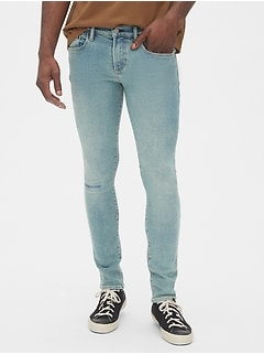 Distressed Skinny Jeans with GapFlex Max