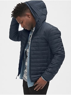 ColdControl Lightweight Hooded Puffer Jacket