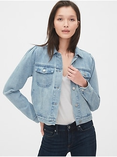 Icon Denim Puff Sleeve Jacket