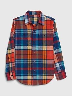 Kids Flannel Shirt