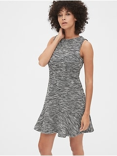 Fit and Flare Dress in Boucle