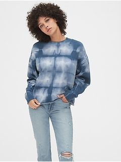 Gap 50th Anniversary Embroidered Crop Crewneck Sweatshirt