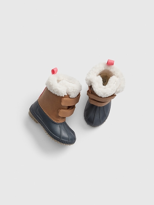 Toddler Sherpa Duck Boots