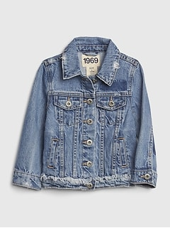 Toddler Distressed Denim Jacket