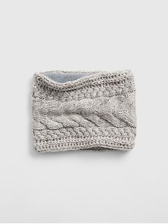 Kids Cable-Knit Neckwarmer
