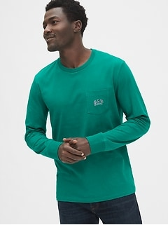 Gap Logo Long Sleeve Pocket T-Shirt
