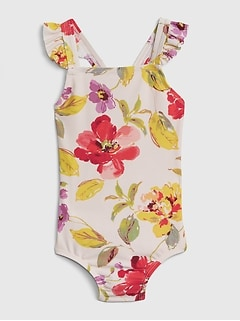 Toddler Print Ruffle One-Piece