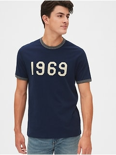 Gap 50th Anniversary Logo Ringer T-Shirt