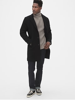 Wool-Blend Top Coat