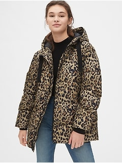 ColdControl Max Hooded Print Puffer Jacket