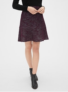 Flutter Mini Skirt in Boucle
