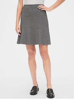 Houndstooth Flutter Mini Skirt