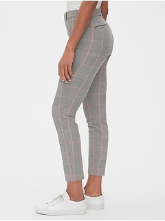 Plaid Curvy Skinny Ankle Pants