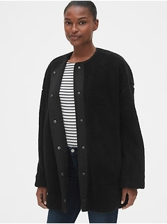 Oversized Teddy Cocoon Jacket