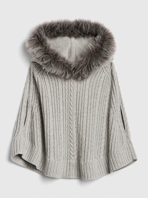 Toddler Faux-Fur Poncho