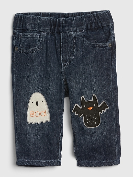 Baby Halloween Patch Slim Jeans