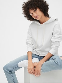 Gap 50th Anniversary Embroidered Crop Pullover Hoodie