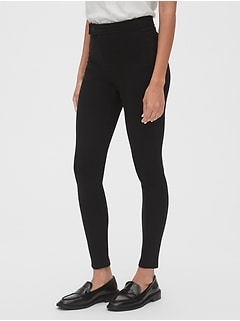 High Rise Twill Leggings in Ponte