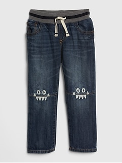 Toddler Monster Pull-On Slim Jeans