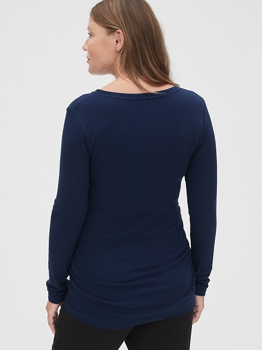 Maternity Ribbed Sleep Henley