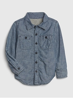 Toddler Jersey-Lined Chambray Shirt