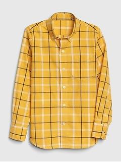 Kids Plaid Poplin Button-Down Shirt