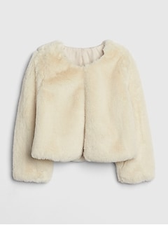 Toddler Faux-Fur Crop Jacket