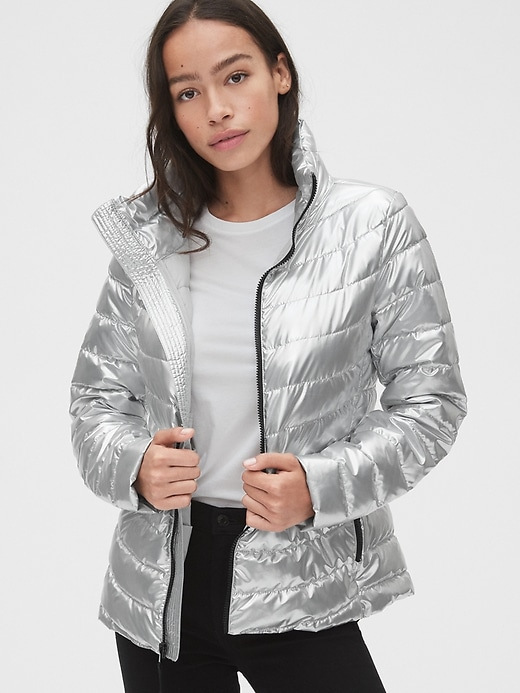 ColdControl Lightweight Metallic Puffer Jacket