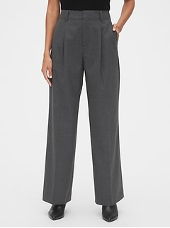 High Rise Pleated Wide-Leg Pants