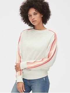 Vintage Soft Side-Stripe Raglan Sweatshirt